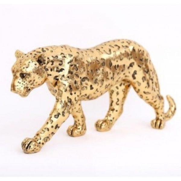 Gold Leopard Ornament 41x18cm