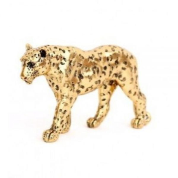 Gold Leopard Ornament 27x14cm