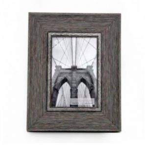 4x6in Grey Wood Effect Frame