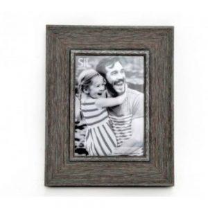 5x7in Grey Wood Effect Frame