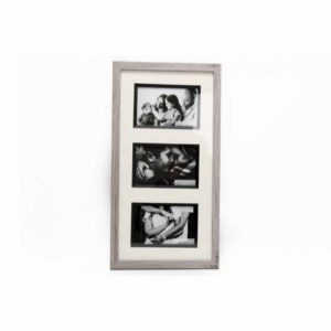 47x25cm Triple Wood Photo Frame