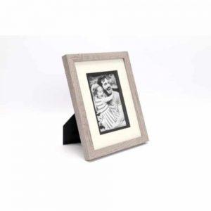 4x6in Grey Wood Photo Frame