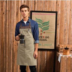 Khaki/Brown Espresso Apron