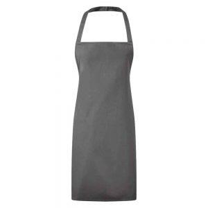 Essential Bib Apron Grey
