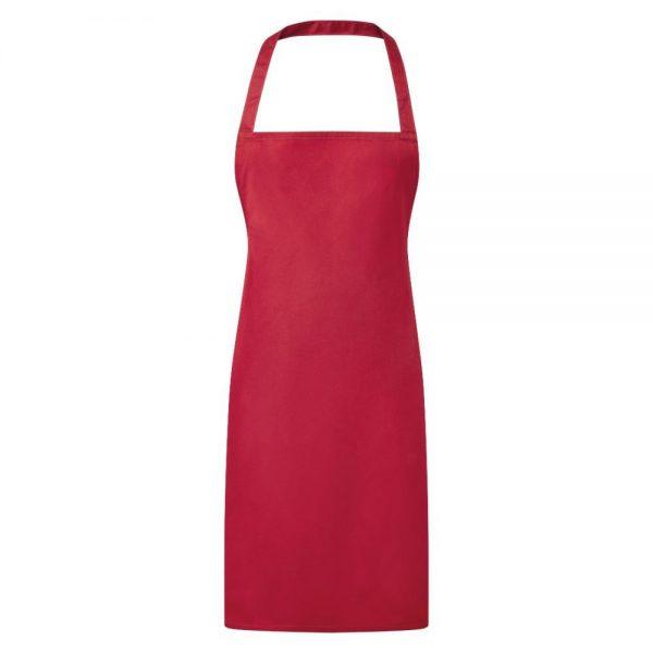 Essential Bib Apron Red