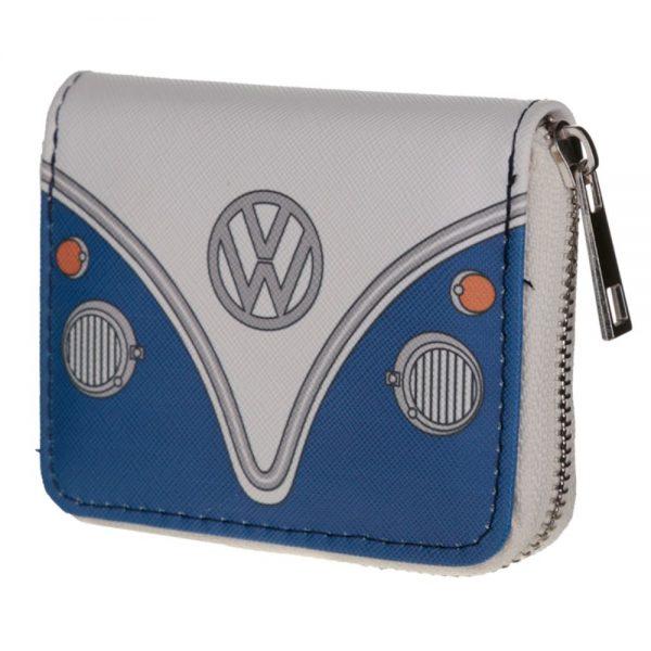 VW Campervan Blue Zip Around Wallet Purse