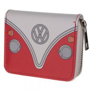 VW Campervan Red Zip Around Small Wallet Purse