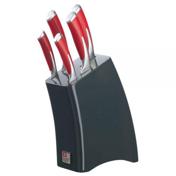 Kyu Fire 5 Piece Knife Block Set