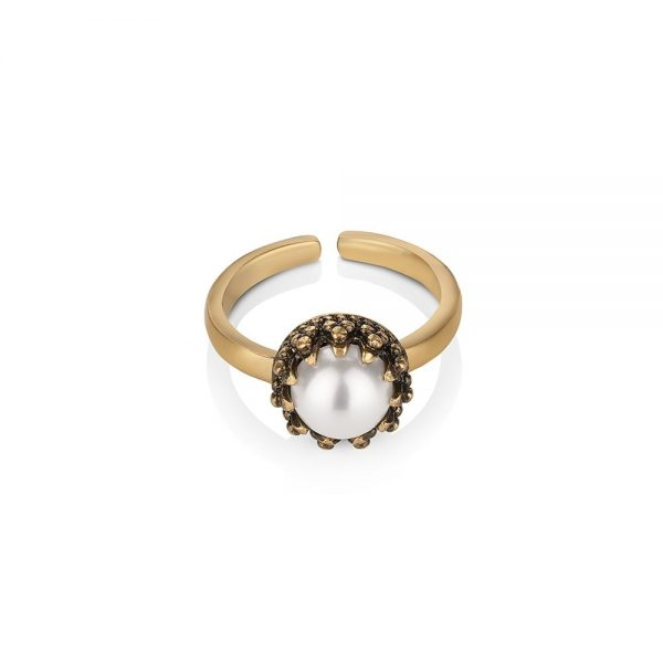 Ring with Pearl Setting