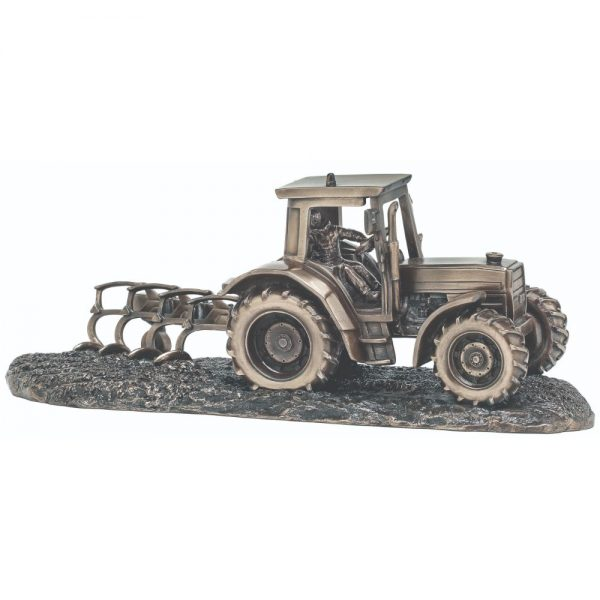 Tractor and Plough H:12cm W:33cm D:12cm