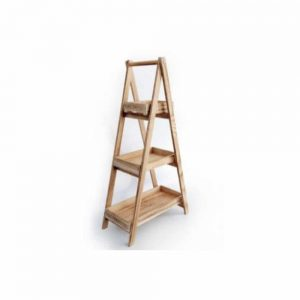 46x87cm Wooden 3 Tray Stand