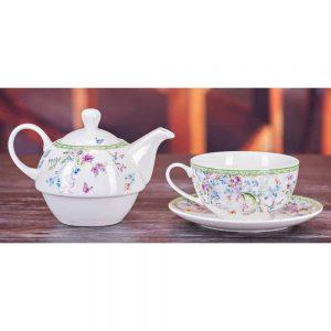 Emma James  Purple Flower Tea For One