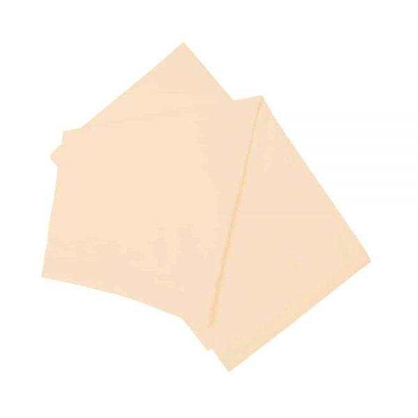 Brushed Cream Double Flat Sheet
