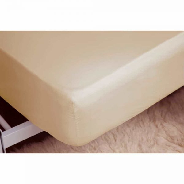 Brushed Cream King Fitted Sheet
