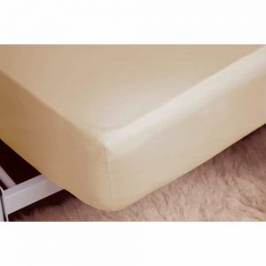 Brushed Cream Single Fitted Sheet