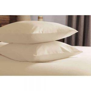 Brushed Cream Pair Pillowcases