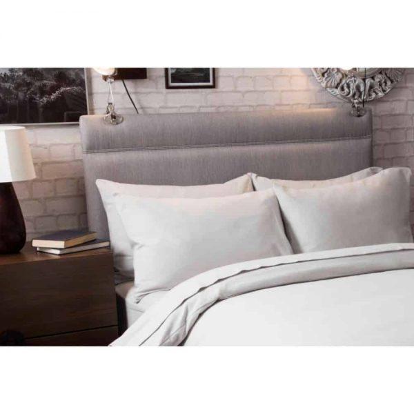 Brushed Grey Pair Pillowcases