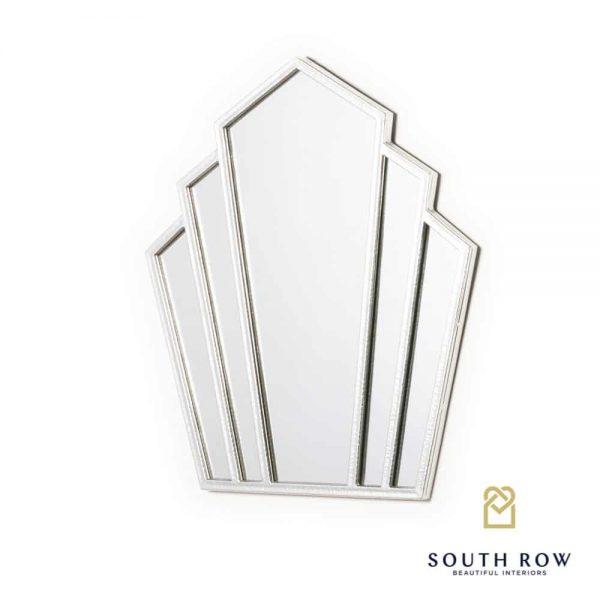Odessa Fantail Mirror Silver Leaf 78x72cm