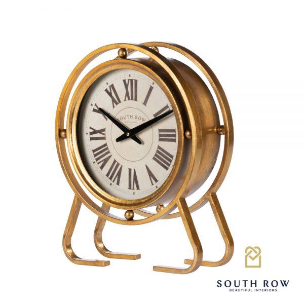 Amelia Vintage Table Clock Gold 45cm