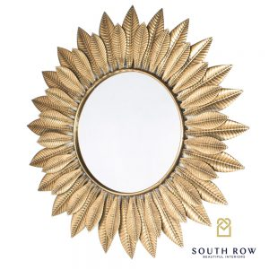 Azure Leaf Wall Mirror Gold 81cm