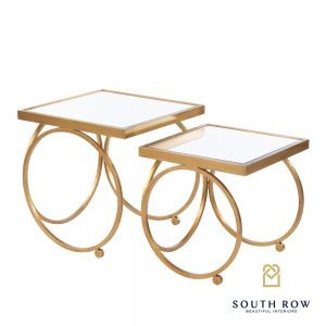 Winston Set of 2 Gold Nesting Tables