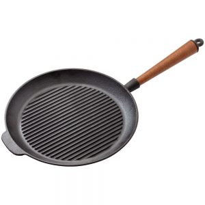 Stellar Cast Iron Grill Pan Round 28cm