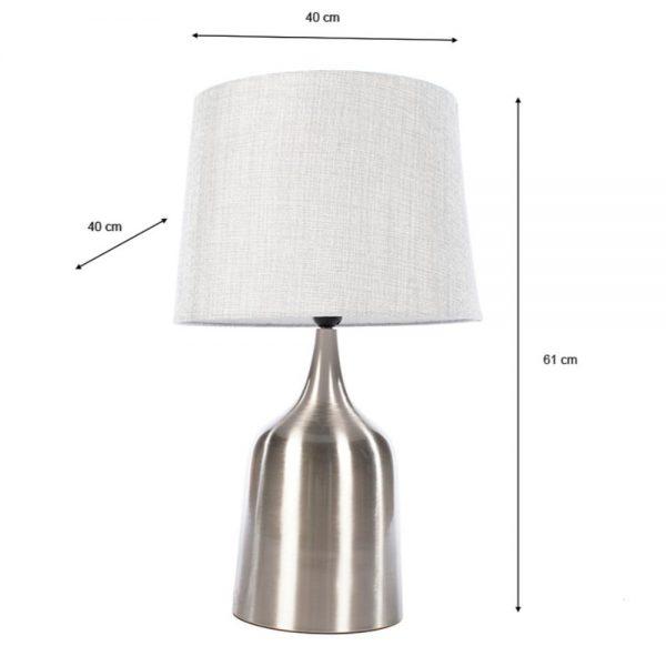 Mercury Table Lamp Satin 61cm