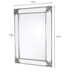 Venetian Wall Mirror Silver 60 x 90cm