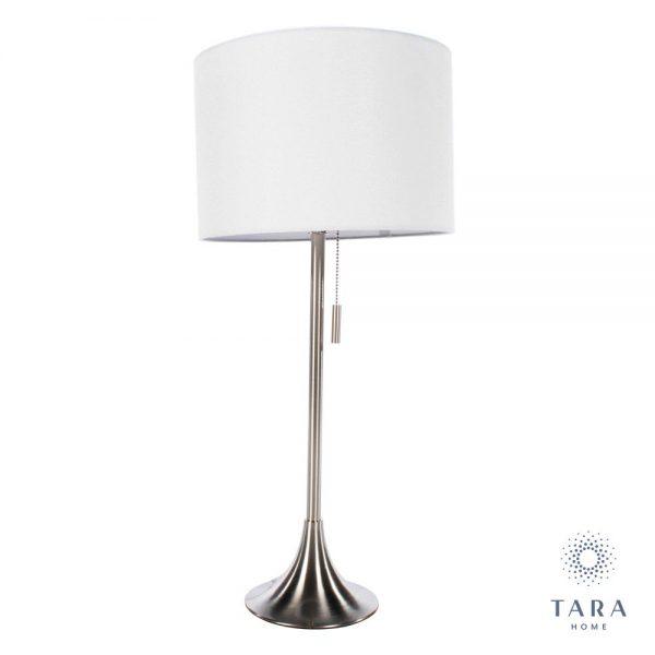 Zara Table Lamp Satin Silver 68cm