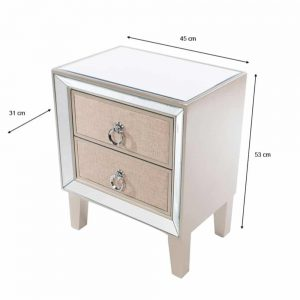 Hayden 2 Drawer Mirrored Locker