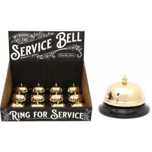Gold Colour Service Bell 8x5cm