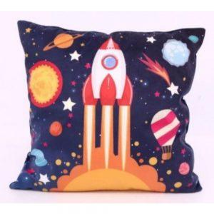Rocket Light up Cushion 40x40cm
