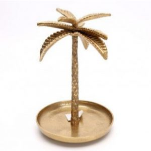 Gold Palm Tree Trinket Dish