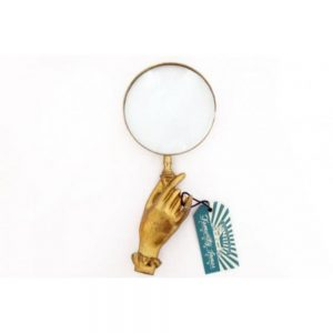 Boho Gold Hand Magnifying Glass 22x10cm