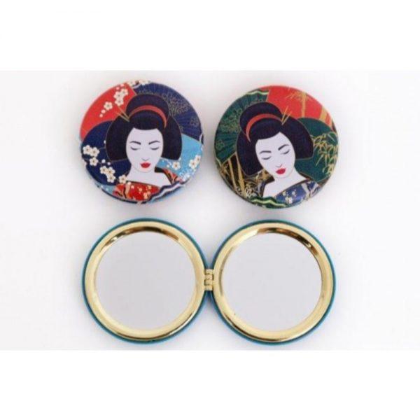 Geisha Compact Mirror 7x7.5cm
