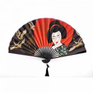 Geisha Hanging Wall Fan 85cm