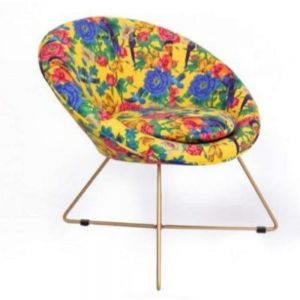 Mexican Floral Velvet Chair 72cm