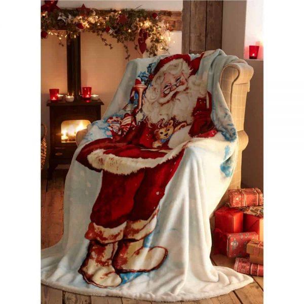 Father Christmas Throw 130x170cm