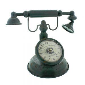 Vintage Telephone Mantel Clock H:24cm W:31cm