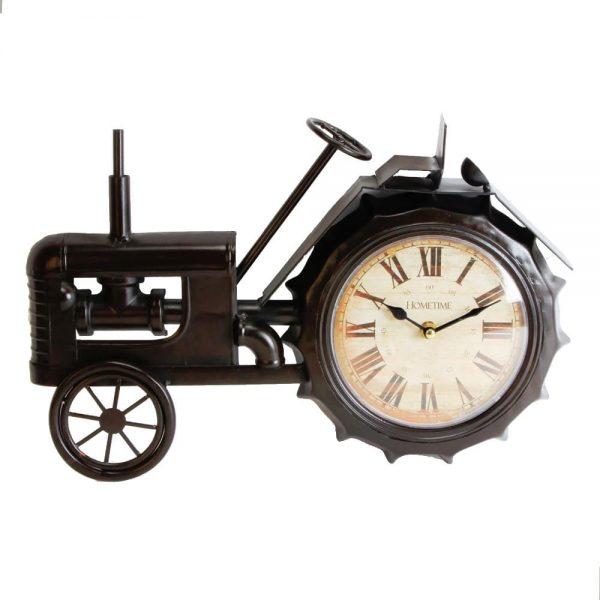 Black Vintage Tractor Clock Height 28cm Width 42cm