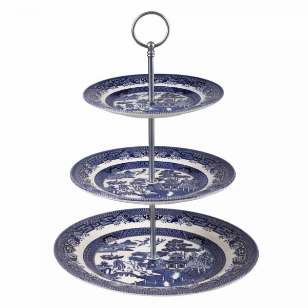 Blue Willow Cake Stand