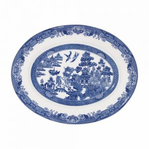 Blue Willow Oval Dish 31cm
