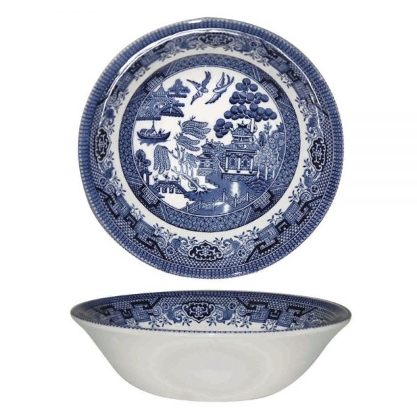 Blue Willow Oatmeal Bowl 15.5cm