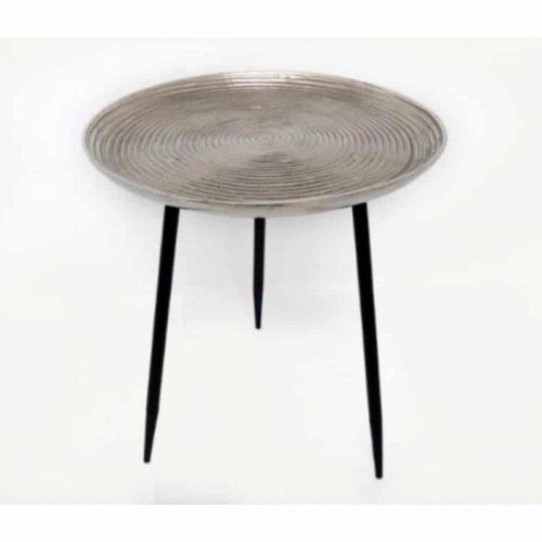 45X49cm Aluminium Silver Table