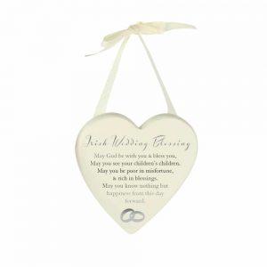 Heart Plaque - Irish Wedding Blessing