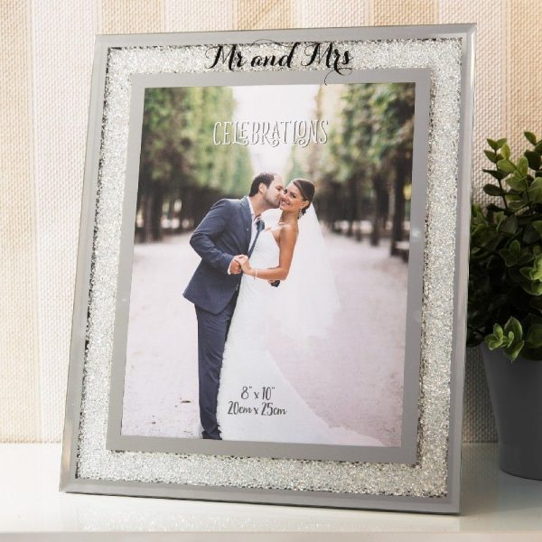 8x10in Crystal Border Frame Mr and Mrs