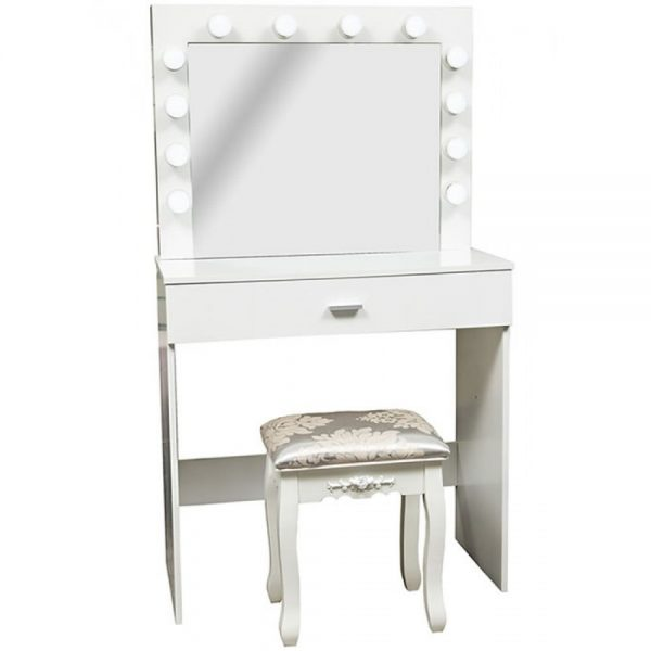 Lights Dressing Table with Stool