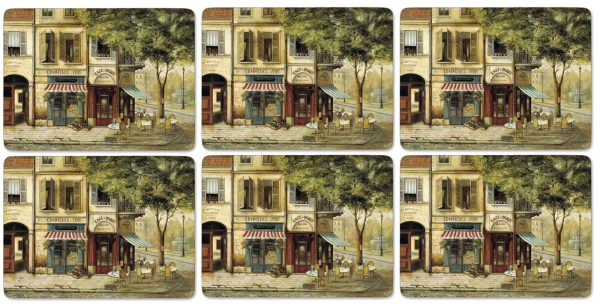 Pimpernel Parisian Scenes Six Placemats & Coasters