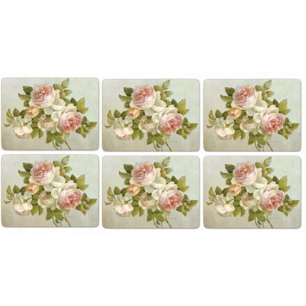 Pimpernel Antique Rose Six Placemats & Coasters