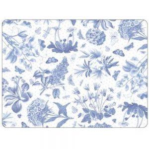 Pimpernel Botanic Blue Six Placemats & Coasters